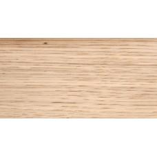 Плинтус деревянный DL Profiles G8 Дуб Белый Шёлк 60мм 2.4м