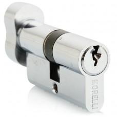 Ключевой цилиндр с поворотной ручкой 50 мм Morelli 50CK PC