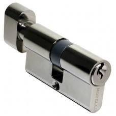 Ключевой цилиндр c поворотной ручкой 60 мм Morelli 60CK BN