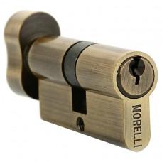 Ключевой цилиндр с поворотной ручкой 70 мм Morelli 70CK AB