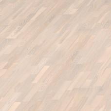 Паркетная доска Haro Ясень нордик Кантри жемчужно-белый коллекция 3-полосная 4000 Series Top connect 525126