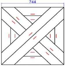 Модульный паркет Lab Arte Дуб инженерный №2-110 Рустик 14 мм