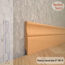 Плинтус Madest Decor из массива бука 07-100-16 шлифованный