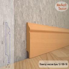 Плинтус Madest Decor из массива бука 12-100-18 шлифованный