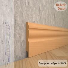 Плинтус Madest Decor из массива бука 14-100-16 шлифованный