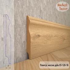 Плинтус Madest Decor из массива дуба 03-120-18 шлифованный