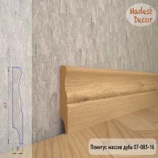 Плинтус Madest Decor из массива дуба 07-083-16 шлифованный