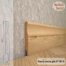 Плинтус Madest Decor из массива дуба 07-100-16 шлифованный