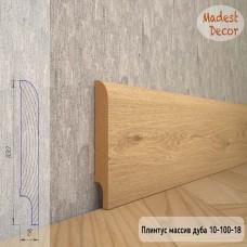 Плинтус Madest Decor из массива дуба 10-100-18 шлифованный
