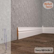 Плинтус Madest Decor 04-064-10 грунт под покраску