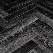 Инженерная доска Marco Ferutti венгерская елка Дуб Неро браш 610 x 122 x 15 мм коллекция Hermitage