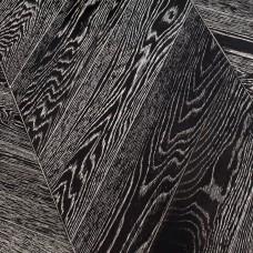"Паркет ""французская елка"" Marco Ferutti коллекция Louvre Дуб Неро (браш)"