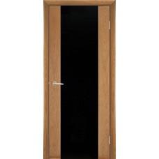 Межкомнатная дверь Мебель-Массив Альба 1 Светлый дуб без патины полотно с остеклением витраж черный