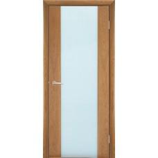 Межкомнатная дверь Мебель-Массив Альба 1 Светлый дуб без патины полотно с остеклением витраж зеркало