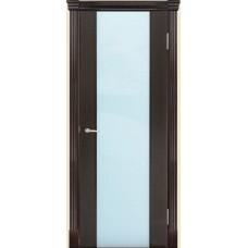 Межкомнатная дверь Мебель-Массив Альба 1 Темный дуб без патины полотно с остеклением витраж матовый