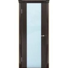 Межкомнатная дверь Мебель-Массив Альба 1 Темный дуб без патины полотно с остеклением витраж зеркало