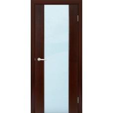 Межкомнатная дверь Мебель-Массив Альба 1 Венге без патины полотно с остеклением витраж зеркало