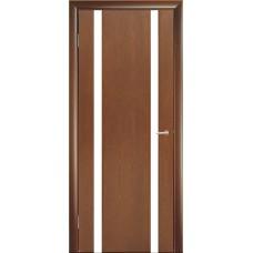 Межкомнатная дверь Мебель-Массив Альба 2 Красное дерево без патины полотно с остеклением витраж зеркало