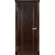 Межкомнатная дверь Мебель-Массив Альба 3 Глянец темный дуб патина полотно глухое
