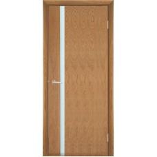 Межкомнатная дверь Мебель-Массив Альба 4 Светлый дуб без патины полотно с остеклением витраж матовый