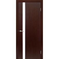 Межкомнатная дверь Мебель-Массив Альба 4 Венге без патины полотно с остеклением витраж матовый