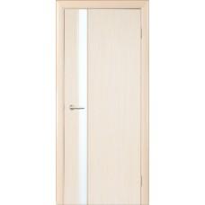 Межкомнатная дверь Мебель-Массив Альба 4 Белый дуб без патины полотно с остеклением витраж зеркало