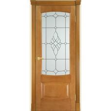 Межкомнатная дверь Мебель-Массив Антик Африканский орех без патины полотно с остеклением