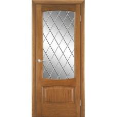 Межкомнатная дверь Мебель-Массив Антик Светлый дуб без патины полотно с остеклением витраж