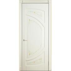 Межкомнатная дверь Мебель-Массив Арте Эмаль слоновая кость без патины роспись 1 сторона полотно глухое