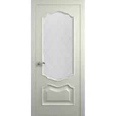 Межкомнатная дверь Мебель-Массив Барселона Эмаль RAL 1013 без патины полотно с остеклением витраж