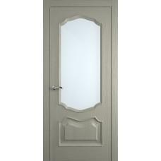 Межкомнатная дверь Мебель-Массив Барселона Эмаль RAL 7044 без патины полотно с остеклением