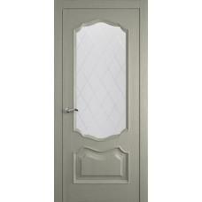 Межкомнатная дверь Мебель-Массив Барселона Эмаль RAL 7044 без патины полотно с остеклением витраж