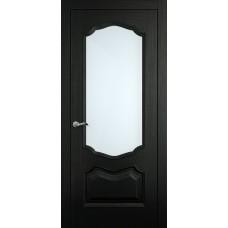 Межкомнатная дверь Мебель-Массив Барселона Эмаль RAL 9005 без патины полотно с остеклением