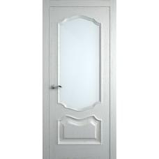 Межкомнатная дверь Мебель-Массив Барселона Эмаль RAL 9010 без патины полотно с остеклением