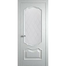Межкомнатная дверь Мебель-Массив Барселона Эмаль RAL 9010 без патины полотно с остеклением витраж