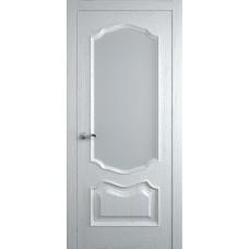 Межкомнатная дверь Мебель-Массив Барселона Эмаль белая патина полотно с остеклением