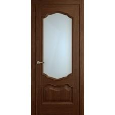 Межкомнатная дверь Мебель-Массив Барселона Коньячный дуб без патины полотно с остеклением