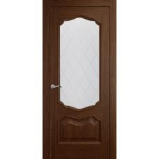 Межкомнатная дверь Мебель-Массив Барселона Коньячный дуб без патины полотно с остеклением витраж
