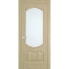 Межкомнатная дверь Мебель-Массив Барселона Шампань дуб без патины полотно с остеклением