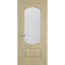 Межкомнатная дверь Мебель-Массив Барселона Шампань дуб без патины полотно с остеклением витраж