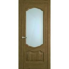 Межкомнатная дверь Мебель-Массив Барселона Светлый дуб без патины полотно с остеклением