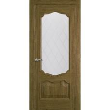 Межкомнатная дверь Мебель-Массив Барселона Светлый дуб без патины полотно с остеклением витраж