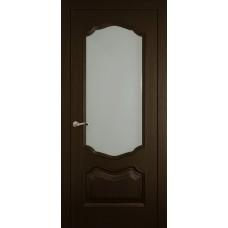 Межкомнатная дверь Мебель-Массив Барселона Темный дуб без патины полотно с остеклением