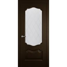Межкомнатная дверь Мебель-Массив Барселона Темный дуб без патины полотно с остеклением витраж