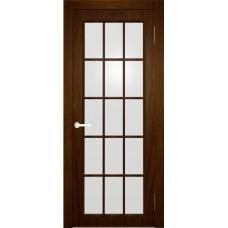 Межкомнатная дверь Мебель-Массив Генуя 1 Коньячный дуб полотно с остеклением витраж матовый