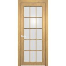 Межкомнатная дверь Мебель-Массив Генуя 1 Шампань дуб полотно с остеклением витраж матовый