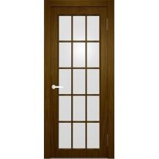Межкомнатная дверь Мебель-Массив Генуя 1 Светлый дуб полотно с остеклением витраж матовый
