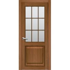 Межкомнатная дверь Мебель-Массив Генуя 2 Светлый дуб полотно с остеклением витраж матовый