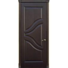 Межкомнатна дверь Мебель-Массив Глория Темный дуб без патины полотно глухое