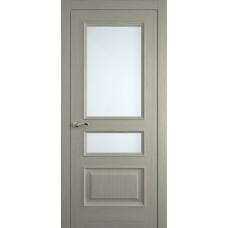 Межкомнатная дверь Мебель-Массив Гранада Эмаль RAL 7044 без патины полотно с остеклением